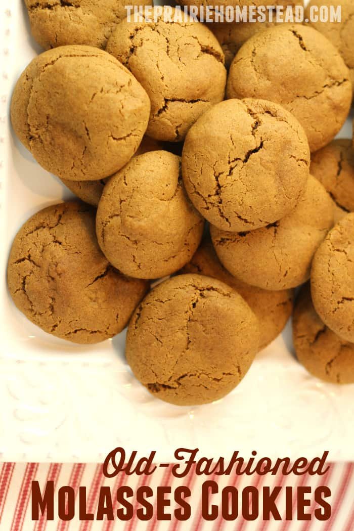 Old-Fashioned Soft Molasses Cookies