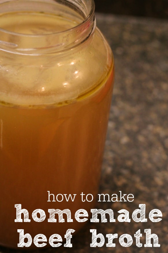 how to make frugal, nourishing homemade beef broth from scratch