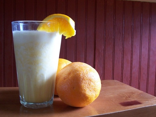 Orange Creamsicle Milkshake (without the Ice Cream!)