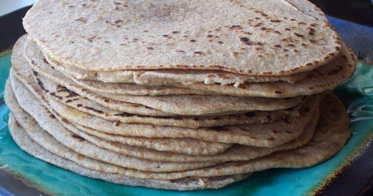 Whole Wheat Sourdough Tortillas