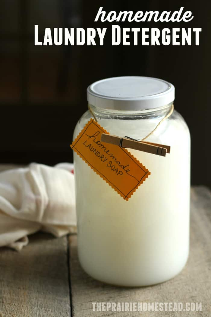 Homemade Laundry Detergent The Prairie Homestead