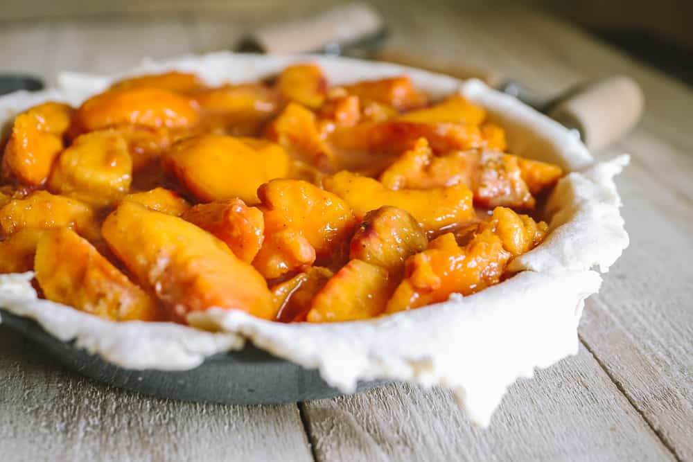 how to freeze peach pie filling