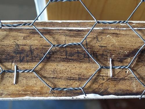 DIY chicken wire frame