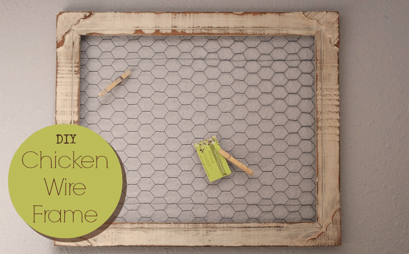 Homestead Decor: DIY Chicken Wire Frame • The Prairie Homestead