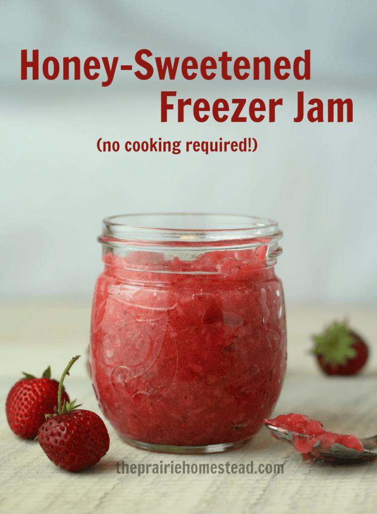 No Cook Strawberry Freezer Jam Recipe The Prairie Homestead