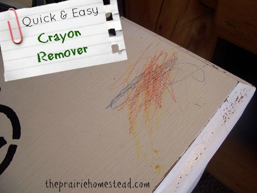 how to remove crayon