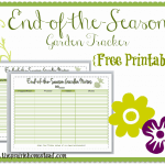 {Free Printable} End-of-the-Season Garden Tracker