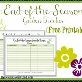 free garden printable