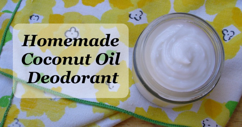 natural homemade deodorant