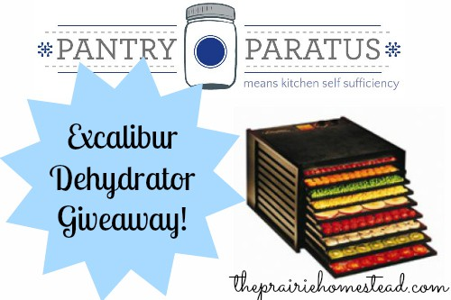 Win an Excalibur Dehydrator from Pantry Paratus!