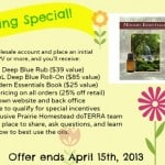 Giveaway Winners, Spring Essential Oil Special, and Last Chance to Save on a Wealth of Health Info!