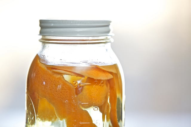 Citrus-infused vinegar cleaner