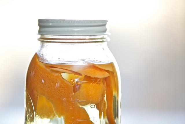 Citrus-infused vinegar cleaner