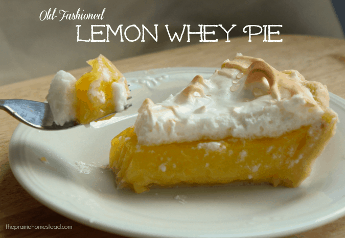how to use whey, lemon whey pie