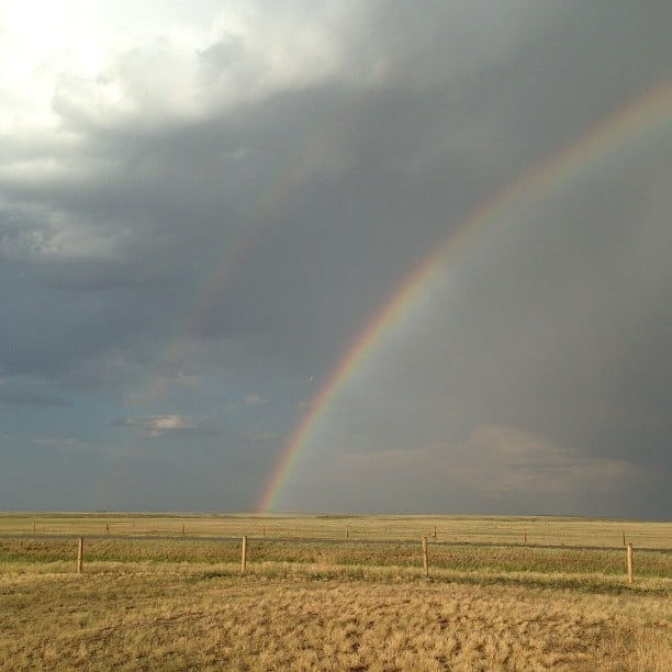 A Prairie Rainbow from this week.