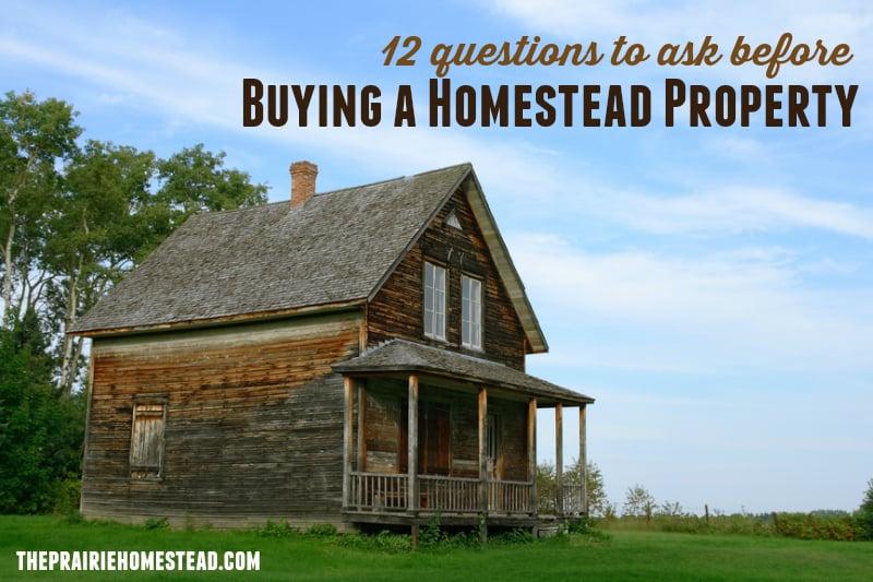 Buying Homestead Property