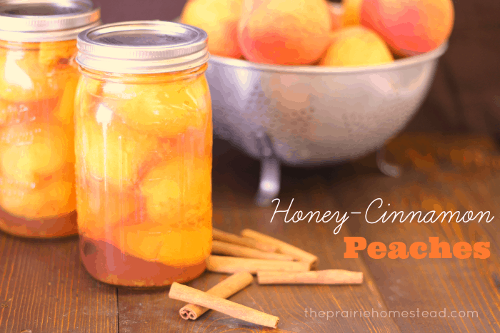 honey cinnamon canned peaches