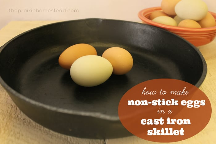 how to cook scrambled eggs in a cast iron skillet