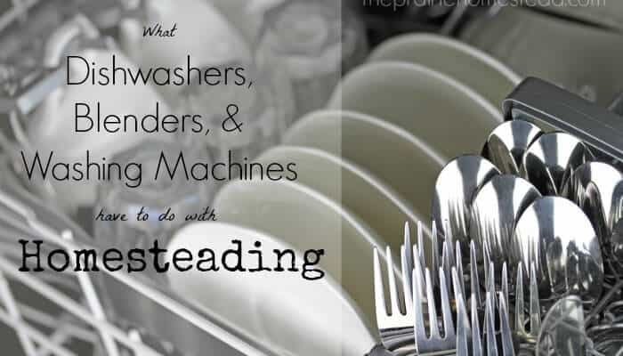 What Dishwashers, Blenders, and Washing Machines Have to do with Homesteading