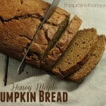 Honey Maple Pumpkin Bread Recipe