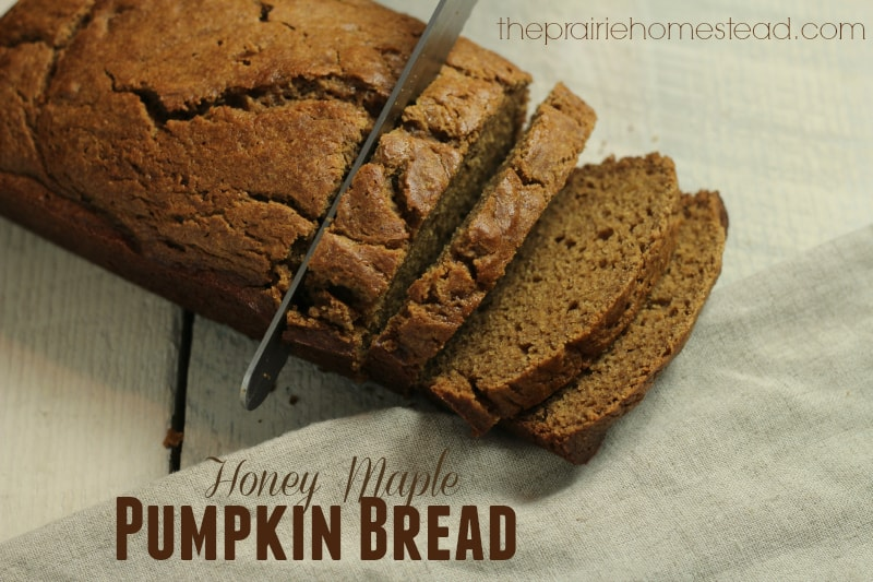 Honey Maple Pumpkin Bread