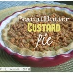 Peanut Butter Custard Pie- Real Food Style!