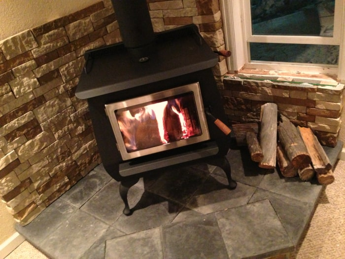 stove8 - Our DIY Wood Stove Installation • The Prairie Homestead