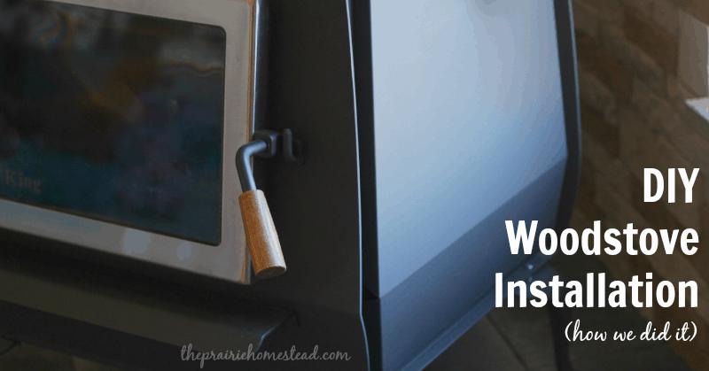 DIY woodstove install
