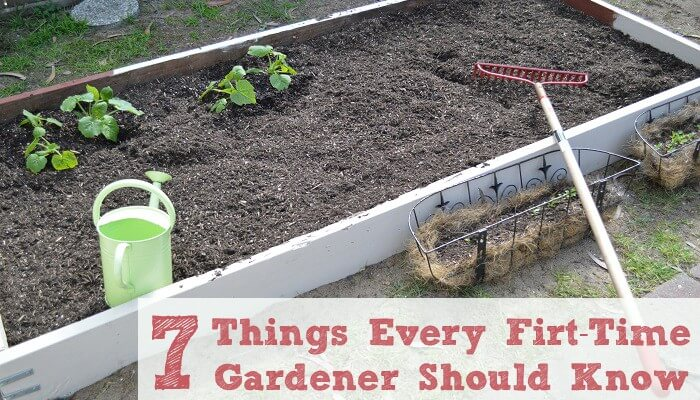 7 Things Every First Time Gardener Should Know