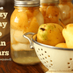How to Can Pears Without Sugar