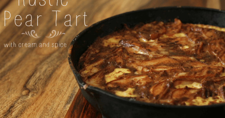 Rustic Pear Tart with Cream and Spice