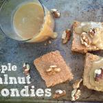Maple Walnut Blondies with Maple Butter Sauce