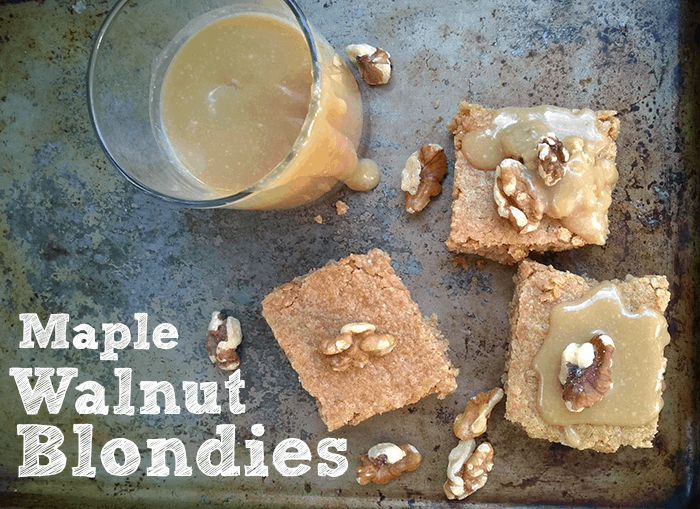 maple walnut blondie cookie recipe