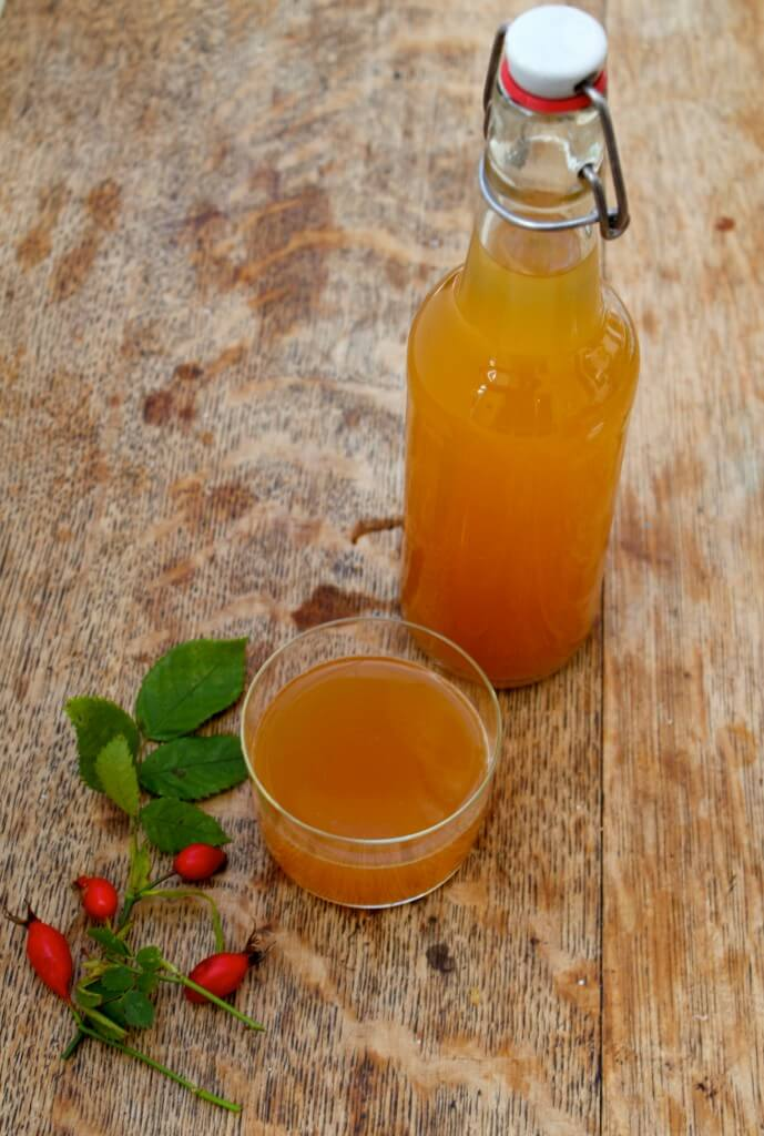 how to make rosehip soda - this old-fashioned recipe is fermented so it's actually a healthy, probiotic soda. I love this!