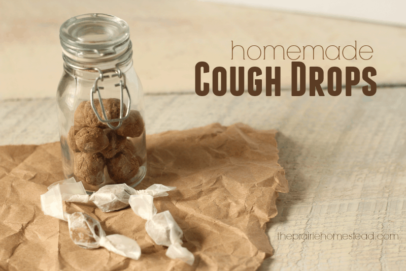homemade cough drops and throat lozenges made with natural ingredients