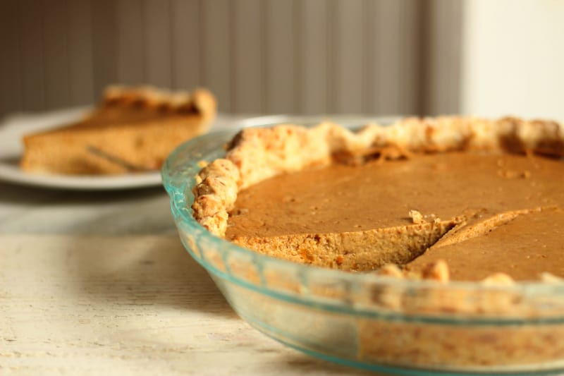 From Scratch Thanksgiving Menu - homemade pumpkin pie | The Prairie Homestead