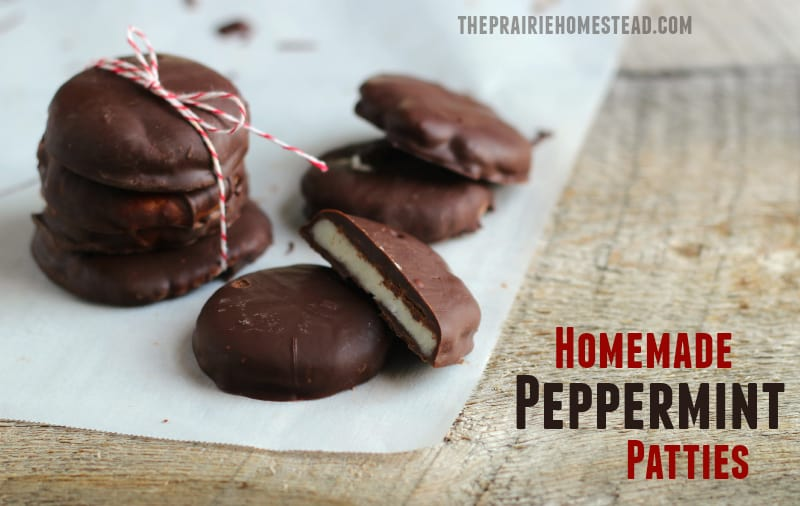 homemade peppermint patties -- a healthier version made with coconut oil!