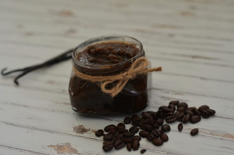 homemade sugar scrub recipe with chocolate and coffee