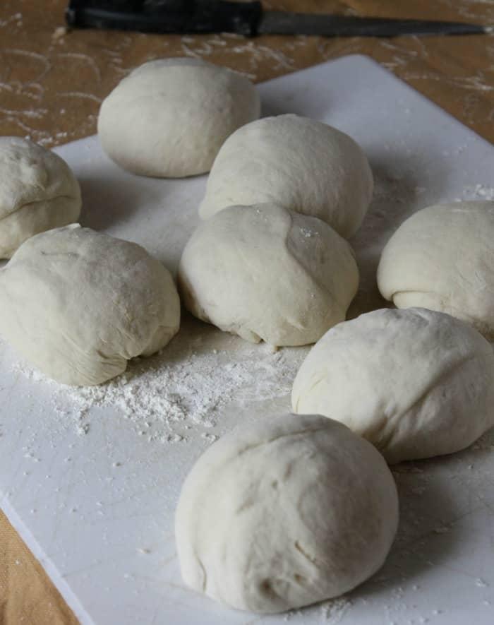 homemade bagel dough balls