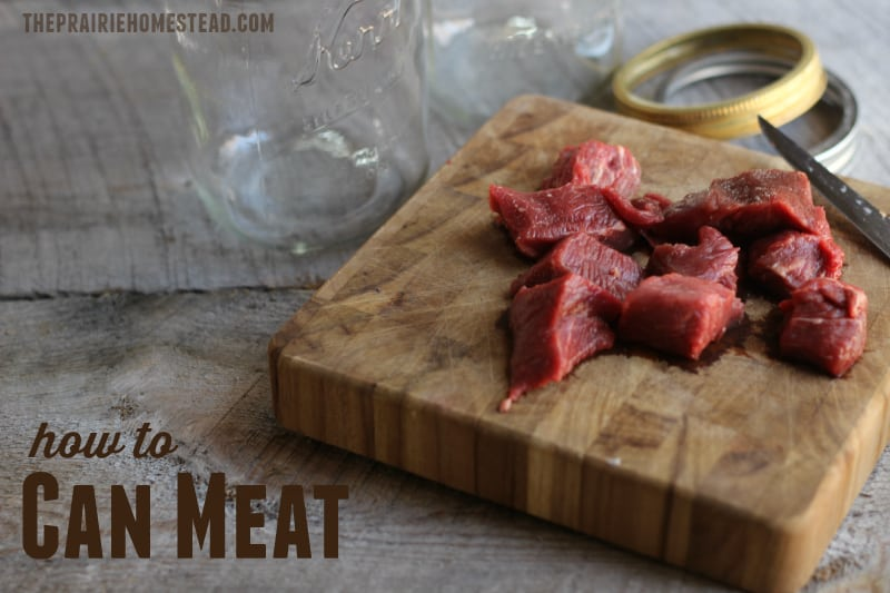 Canning meat, beef, venison, or elk with a pressure canner