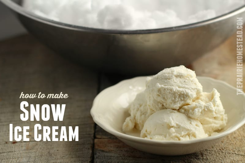 old-fashioned snow ice cream recipe make with maple syrup