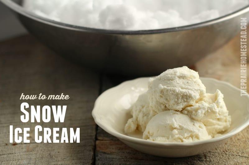 Snow ice cream recipe the prairie homestead snow ice cream recipe ccuart Images