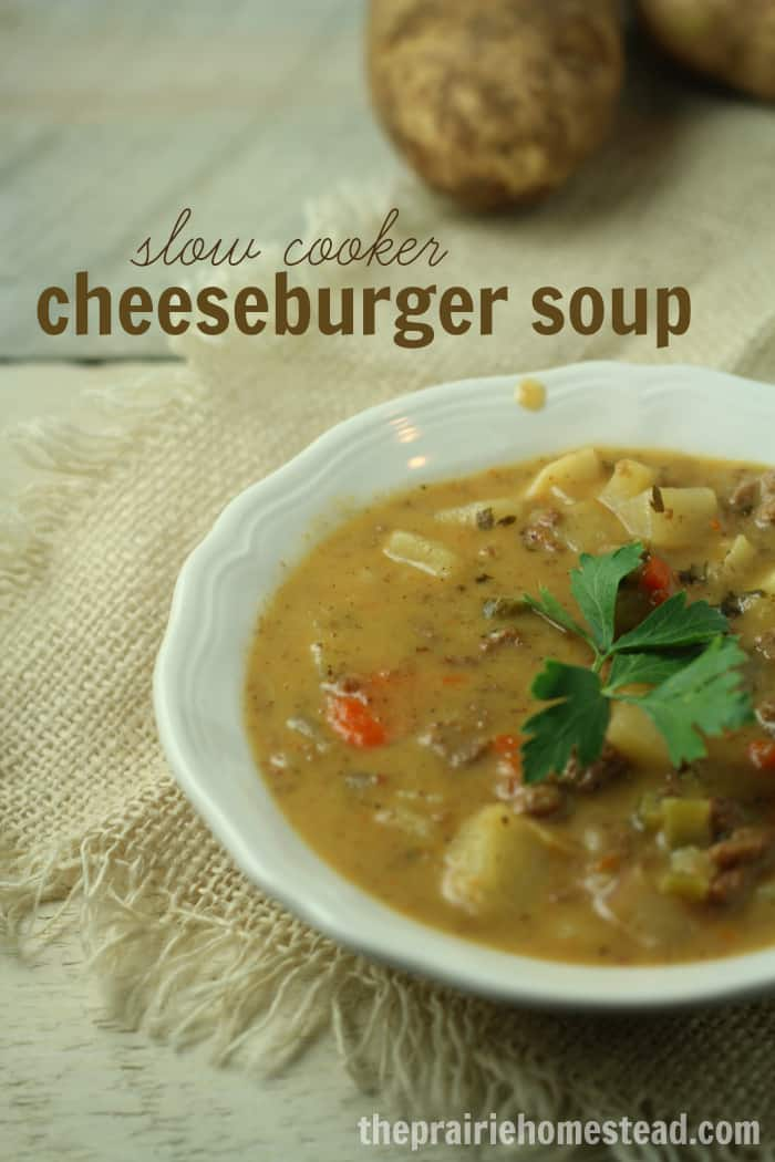 From Scratch Cheeseburger Soup With No Processed Ingredients!