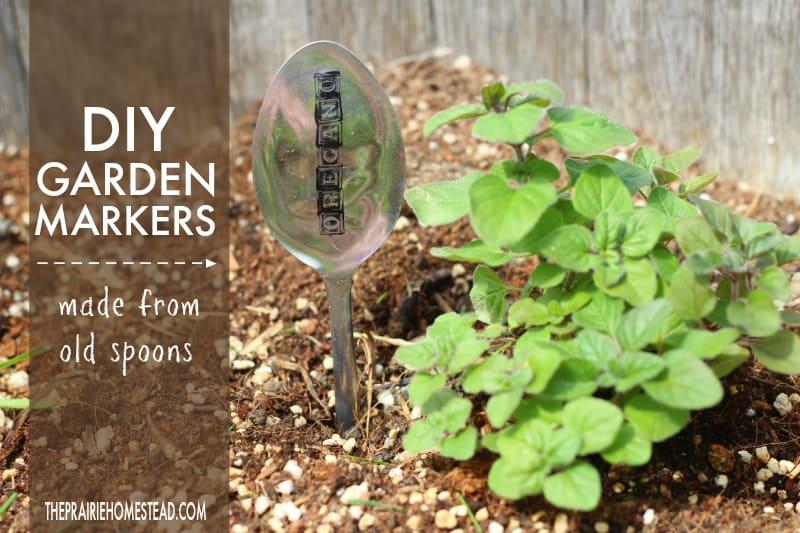 diy garden markers spoon