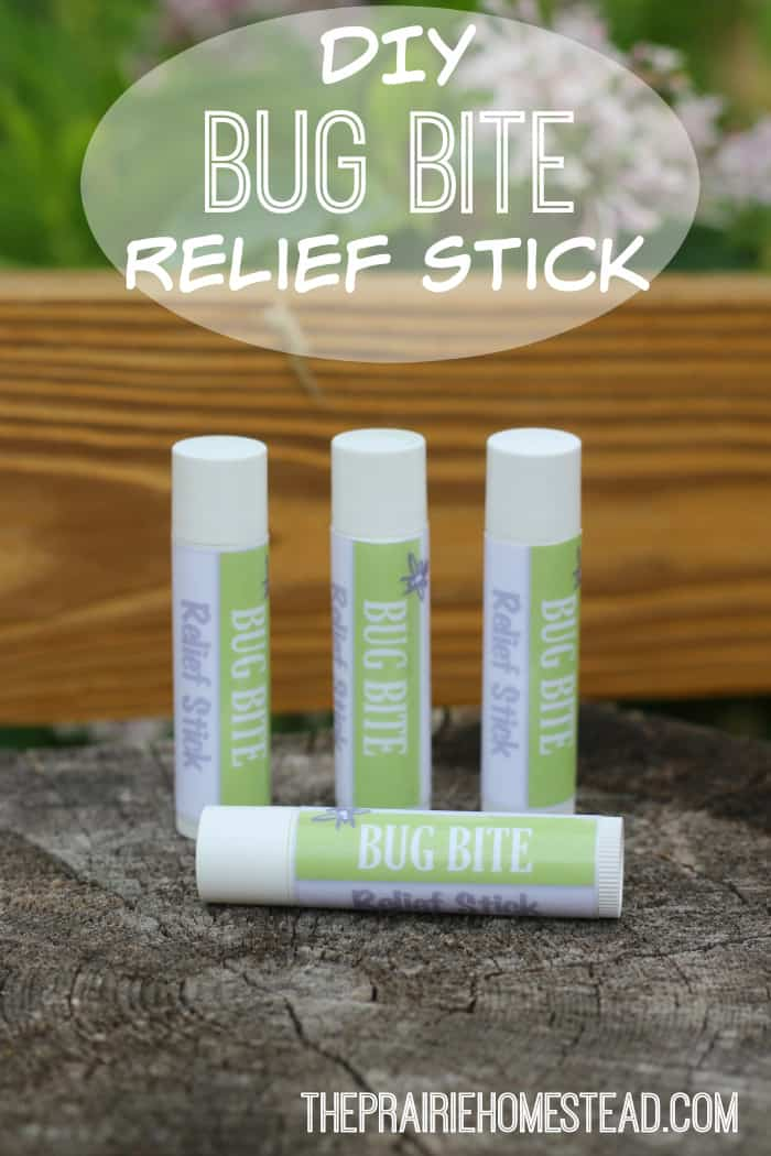 homemade bug bite relief stick