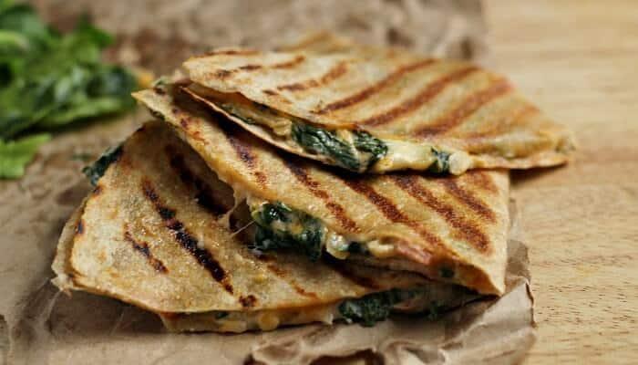 Creamy Spinach Quesadilla Recipe
