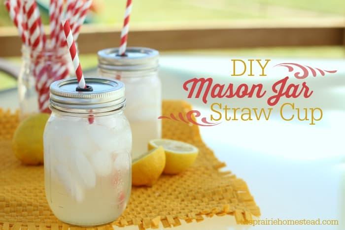 diy mason jar cups with straw - Mason Jar Drinking Glasses