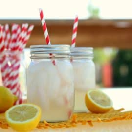 DIY mason jar cups with straw