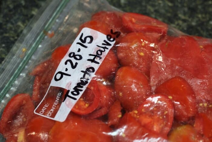 Freezing Tomatoes: Label the Bag!