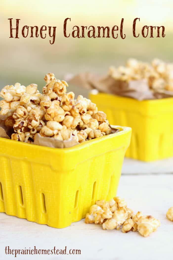 Honey Caramel Corn Recipe | The Prairie Homestead